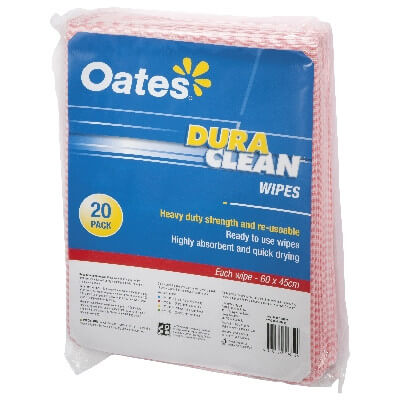 Oates Duraclean Wipes Red