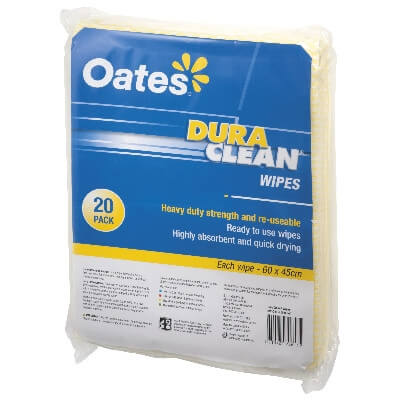 Oates Duraclean Wipes Yellow
