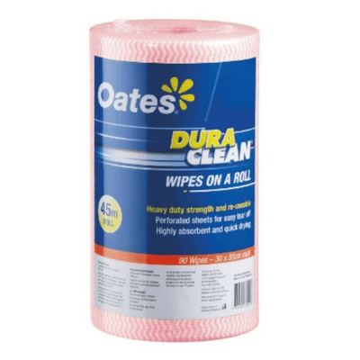 Oates Duraclean Wipes On A Roll Red