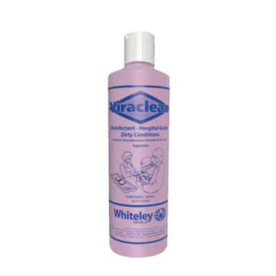 Whiteley's Viraclean 500ml, Hospital Grade Disinfectant, Proven to kill COVID-19